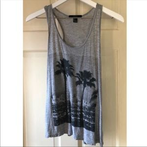 Forever 21 Racerback Palm Tree Tank Top